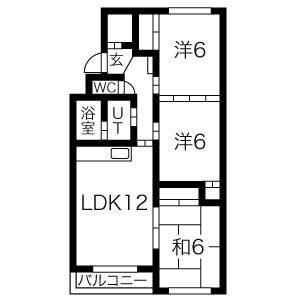 むつみパークマンション(107)の間取り図
