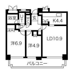 中島公園パークマンション(405)の間取り図