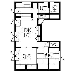 S4ビル(2F)の間取り図