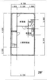 中西ビル2階間取り図