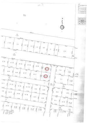 あいの里2条7丁目の売り土地地積図1
