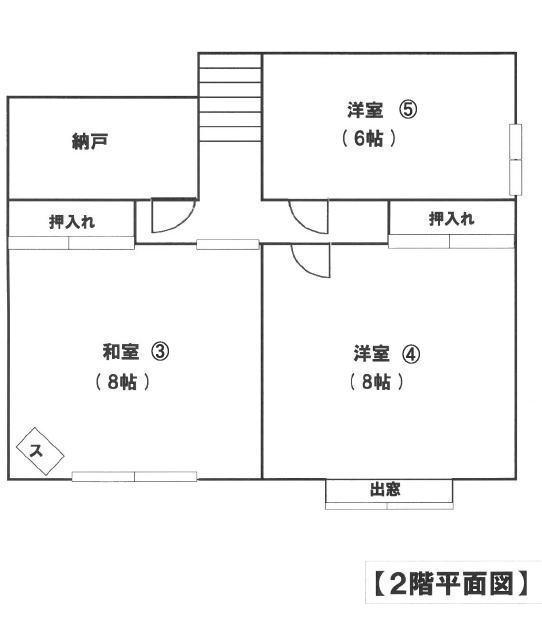 北郷の中古一戸建て2階間取り図