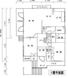 澄川の中古一戸建て1階間取り図